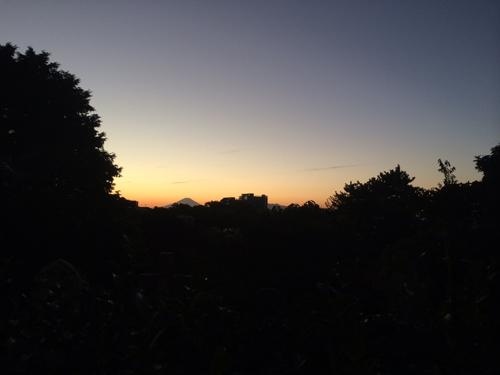 外人墓地からの富士山