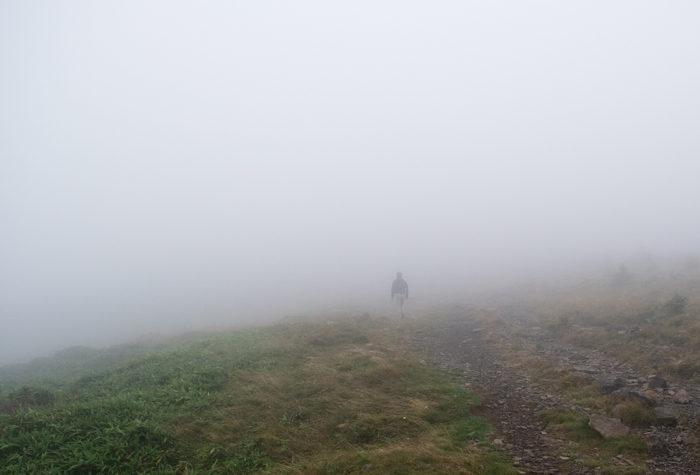 濃霧の撮影